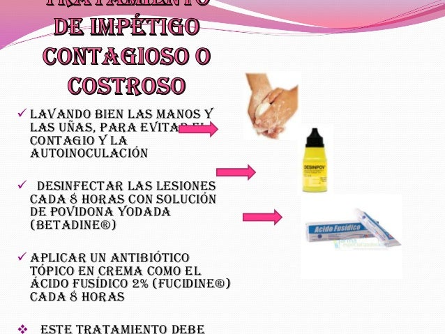 tratamiento antibiotico de impetigo en niños