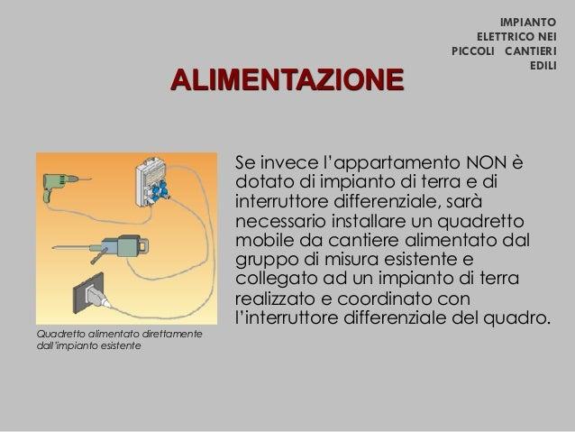 SICUREZZA CANTIERI Impianto Elettrico Nei Piccoli Cantieri