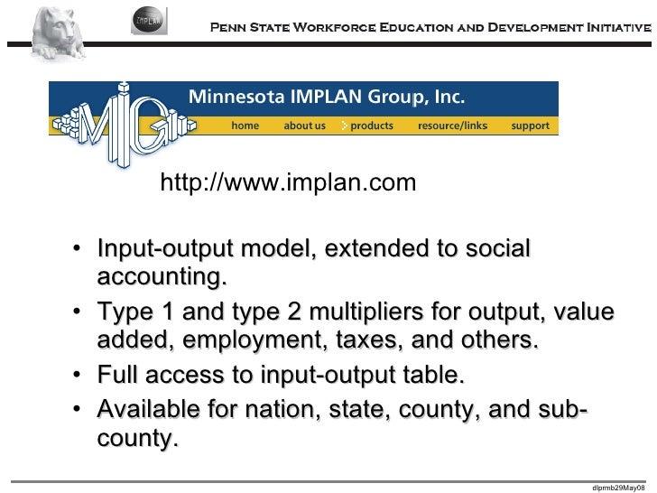 Economic Impact Analysis with IMPLAN
