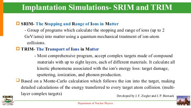 srim the stopping and range of ions in matter pdf