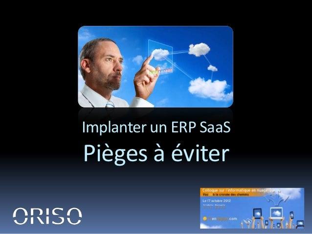 Implanter un ERP SaaSPièges à éviter