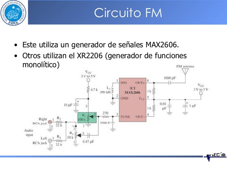 Circuito Xr2206 : Implementación de sistemas fm
