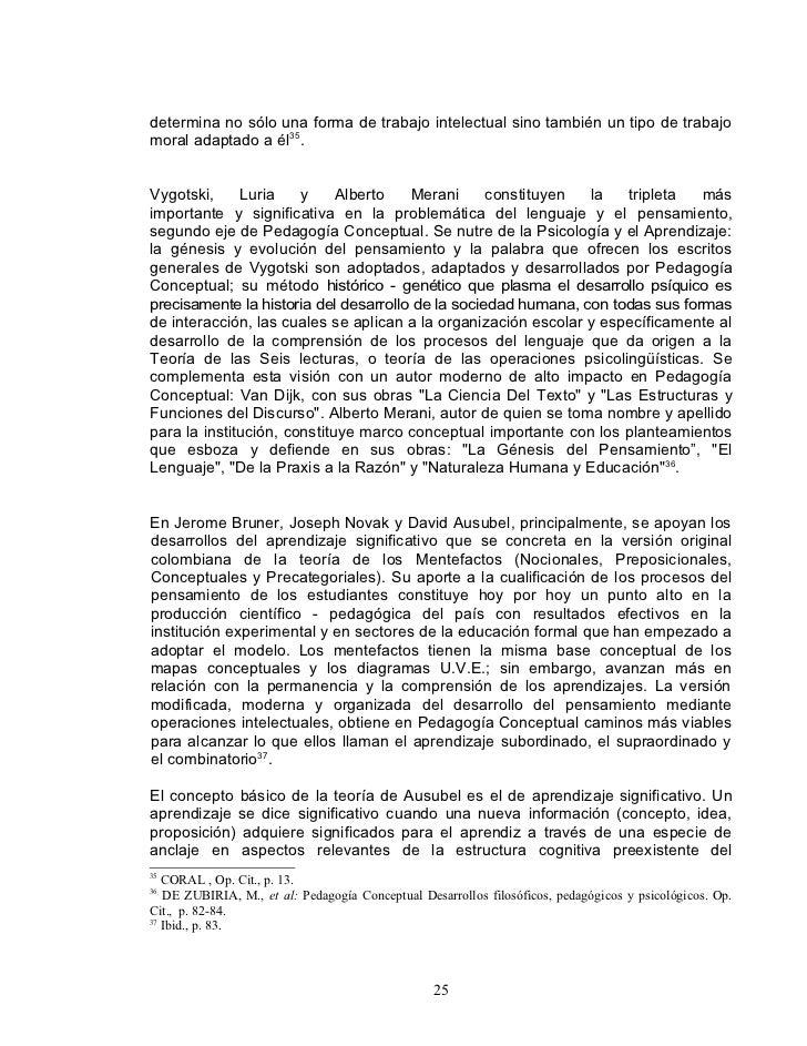 determina no sólo una forma de trabajo intelectual sino también un tipo de trabajo moral adaptado a él35.   Vygotski,     ...