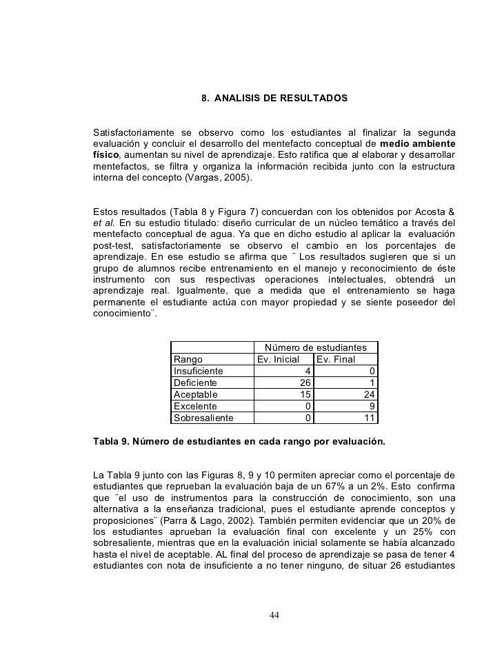 8. ANALISIS DE RESULTADOS   Satisfactoriamente se observo como los estudiantes al finalizar la segunda evaluación y conclu...
