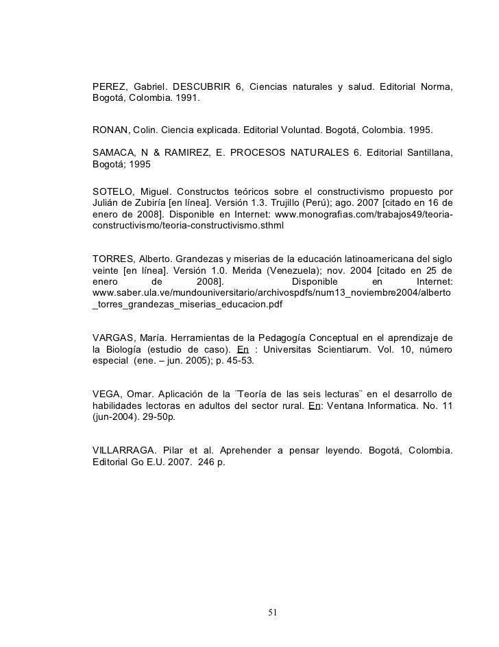 PEREZ, Gabriel. DESCUBRIR 6, Ciencias naturales y salud. Editorial Norma, Bogotá, Colombia. 1991.   RONAN, Colin. Ciencia ...