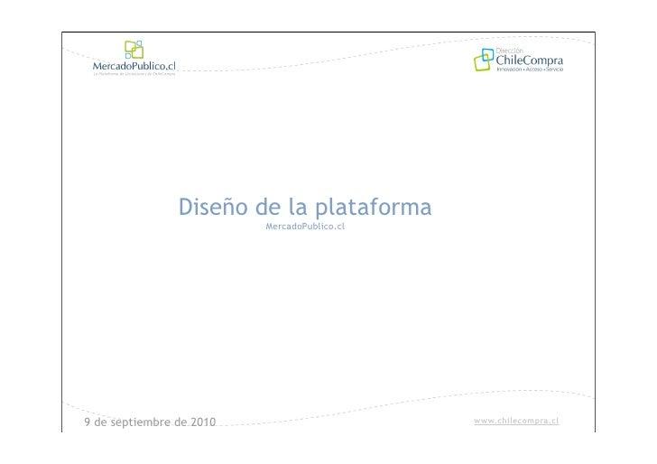 Diseño de plataforma