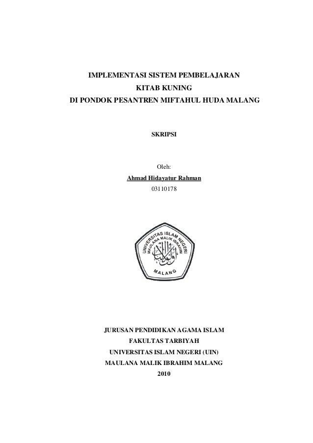 Judul Skripsi Pendidikan Agama Islam Uin Malang Ide Judul Skripsi Universitas