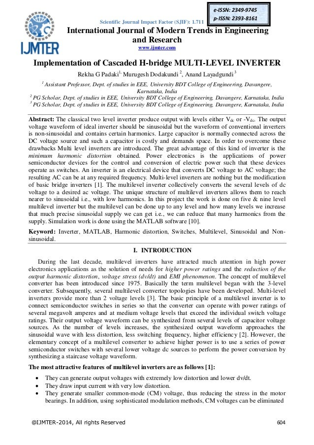 Cascaded multilevel inverter thesis