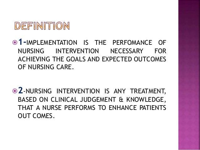Implementation important steps of nursing process Slide 2
