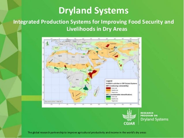 The global research partnership to improve agricultural productivity and income in the world's dry areas Dryland Systems I...