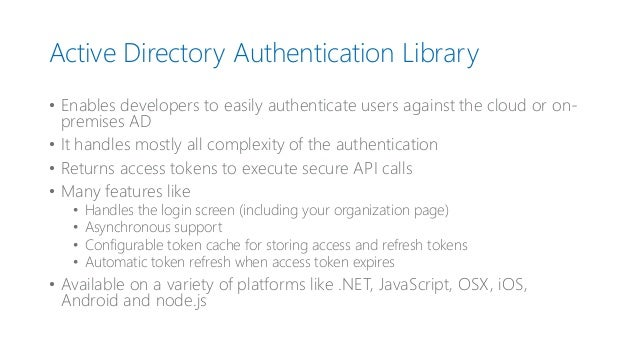 Implementation of azure active directory authentication with cross pl…