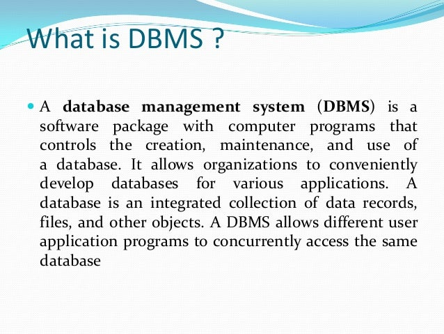 Implementation Of Dbms