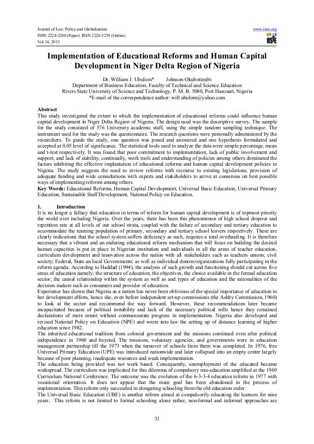 Journal of Law, Policy and Globalization www.iiste.org ISSN 2224-3240 (Paper) ISSN 2224-3259 (Online) Vol.14, 2013 31 Impl...