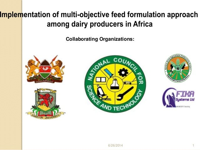 Implementation of multi objective feed formulation approach by dr  s …