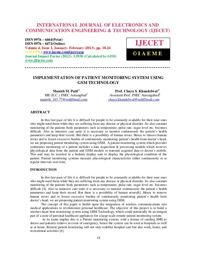 International Journal of Electronics and Communication Engineering & Technology (IJECET), ISSN   INTERNATIONAL JOURNAL OF ...