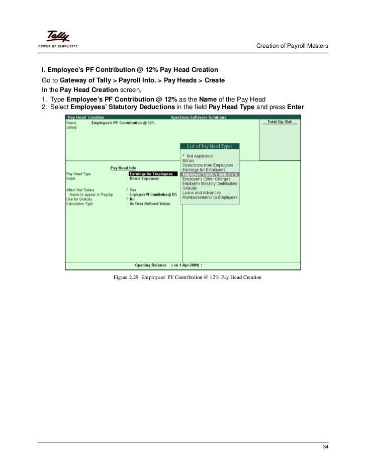 payroll in tally erp 9 pdf