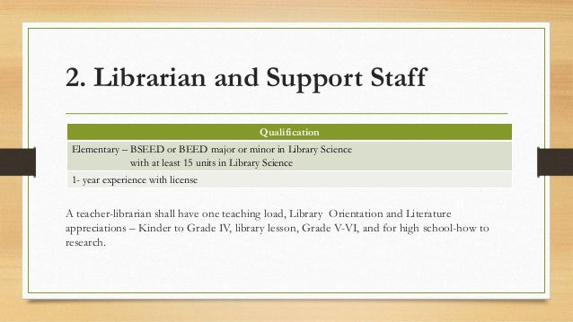 Librarian For Every 1000 Additional Enrollees 12