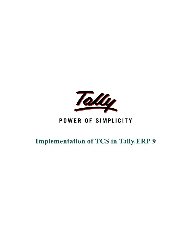 Implementation of TCS in Tally.ERP 9