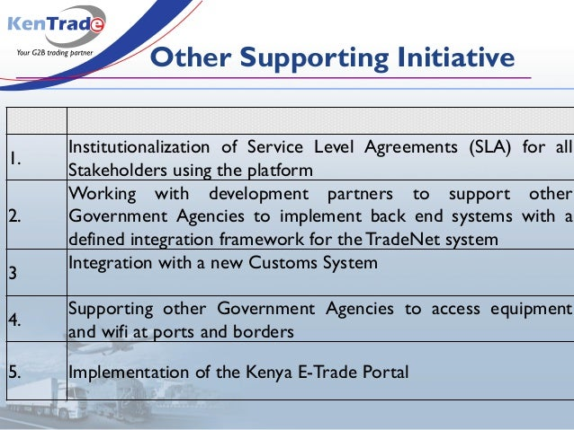 1. Institutionalization of Service Level Agreements (SLA) for all Stakeholders using the platform 2. Working with developm...