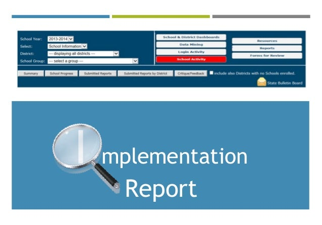 I mplementation Report