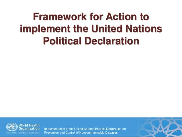 Implementation of the United Nations Political Declaration ...
