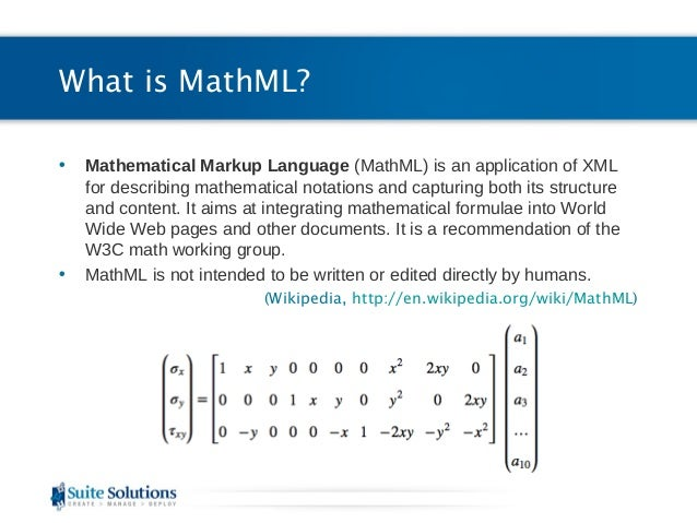 Implementing MathML with DITA ...