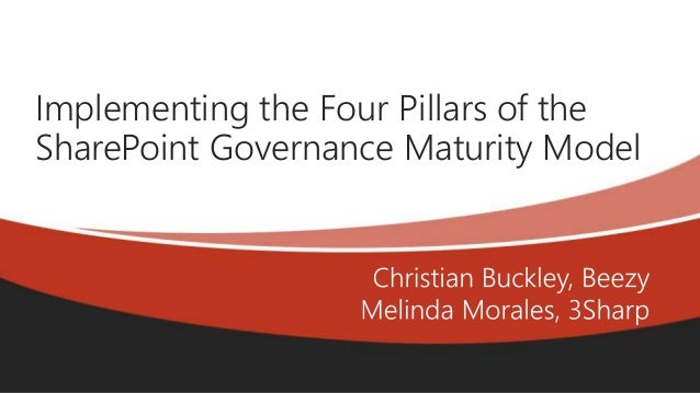 Online Conference June 17th and 18th 2015 Implementing the Four Pillars of the SharePoint Governance Maturity Model