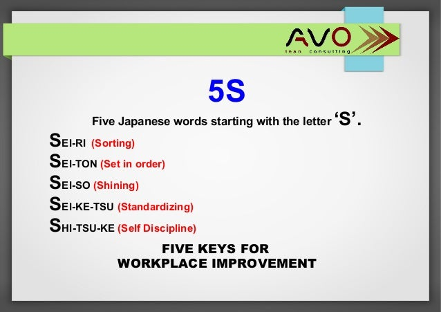 5 letter words starting with la 5s implementation the step to continuous improvement 16253