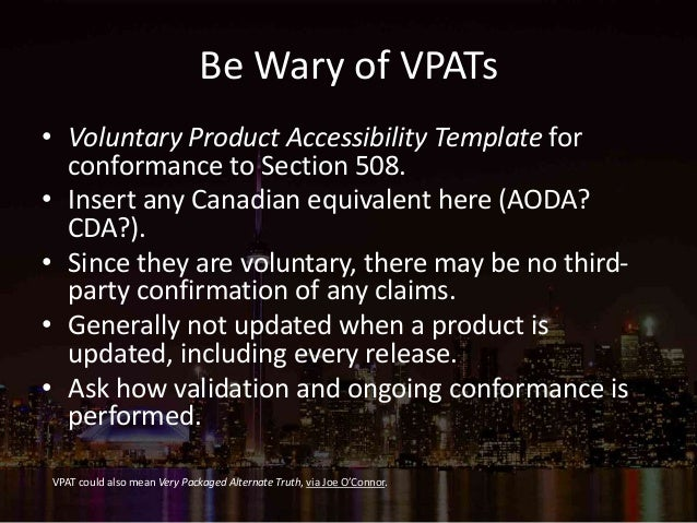 Implementing accessibility accessibility toronto for Voluntary product accessibility template section 508