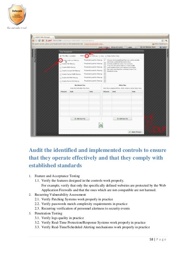Implementing and auditing security controls part 1