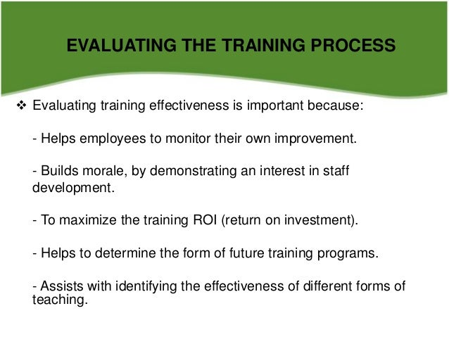 Implementing And Evaluating The Training Process Hrm