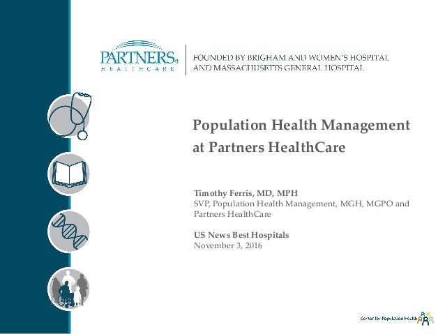 Implementing a Population Health Model (Timothy Ferris)