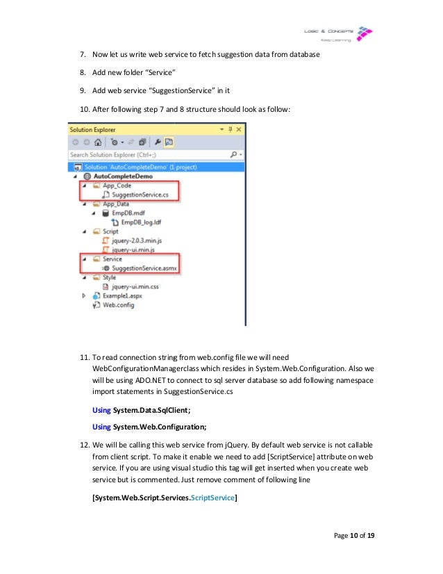 Implementing auto complete using JQuery