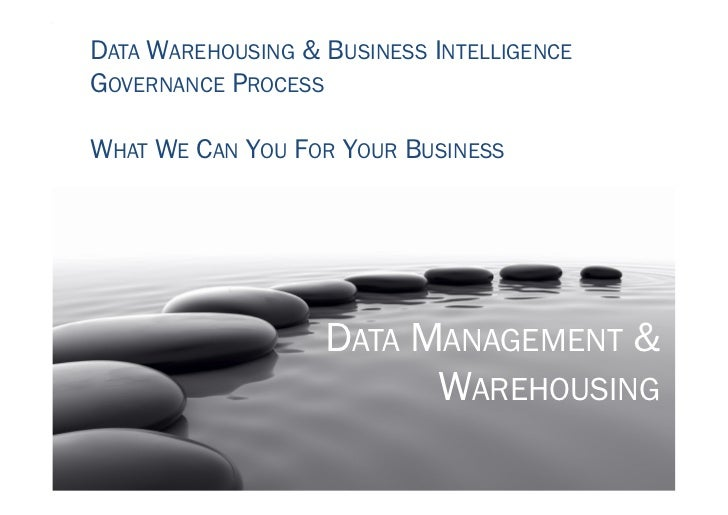 DATA WAREHOUSING & BUSINESS INTELLIGENCEGOVERNANCE PROCESSWHAT WE CAN YOU FOR YOUR BUSINESS                   DATA MANAGEM...