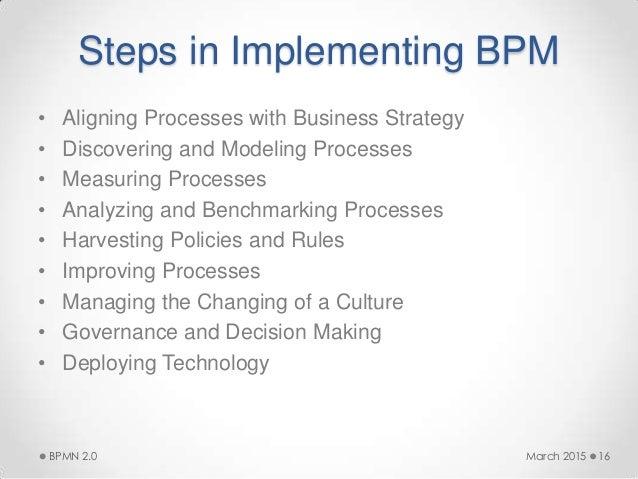 march 2015bpmn 20 15 16 steps in implementing bpm - Bpmn 20 Modeler For Visio