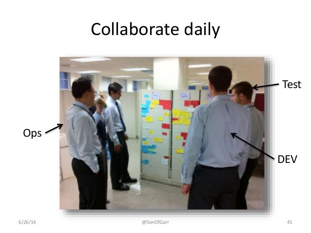 Collaborate daily  Ops  Test  DEV  6/26/14 @SonOfGarr 41