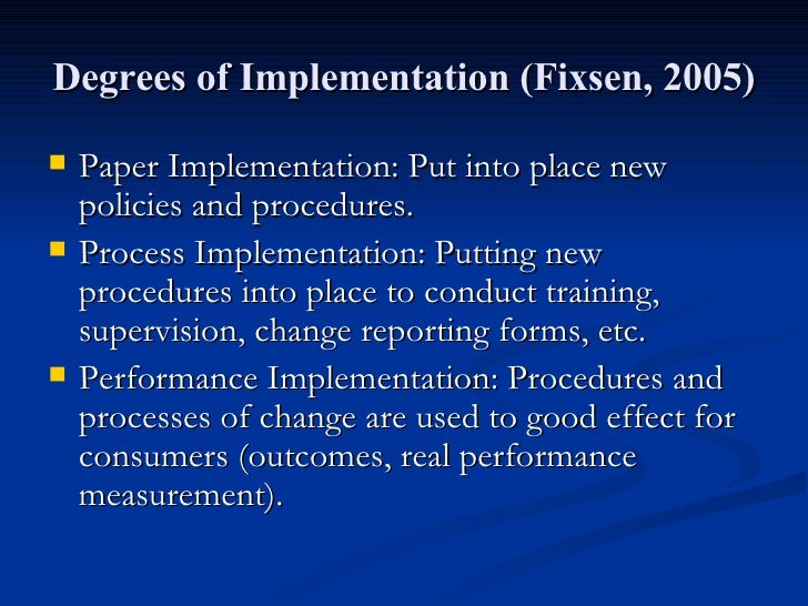 options for implementing a leadership change paper The nature of policy change and implementation:  paper seeks to fill this gap and provides a review of the main  how can we explain policy change and.