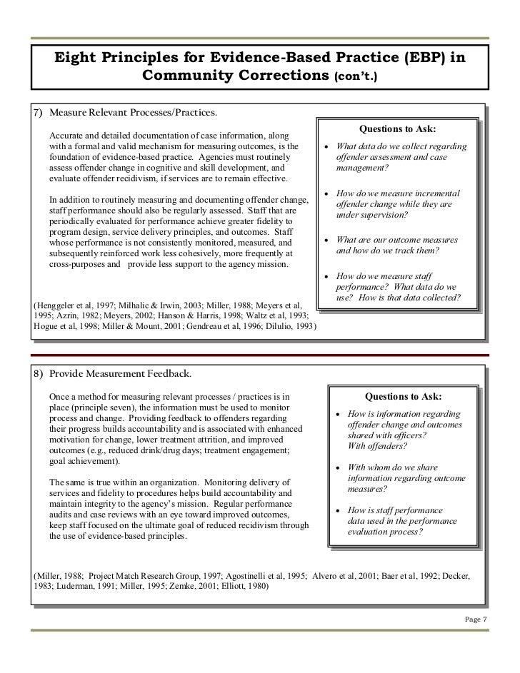 The effectiveness of community based corrections program