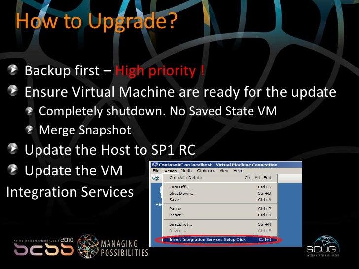 Implementing Hyper V virtualization Service Pack 1