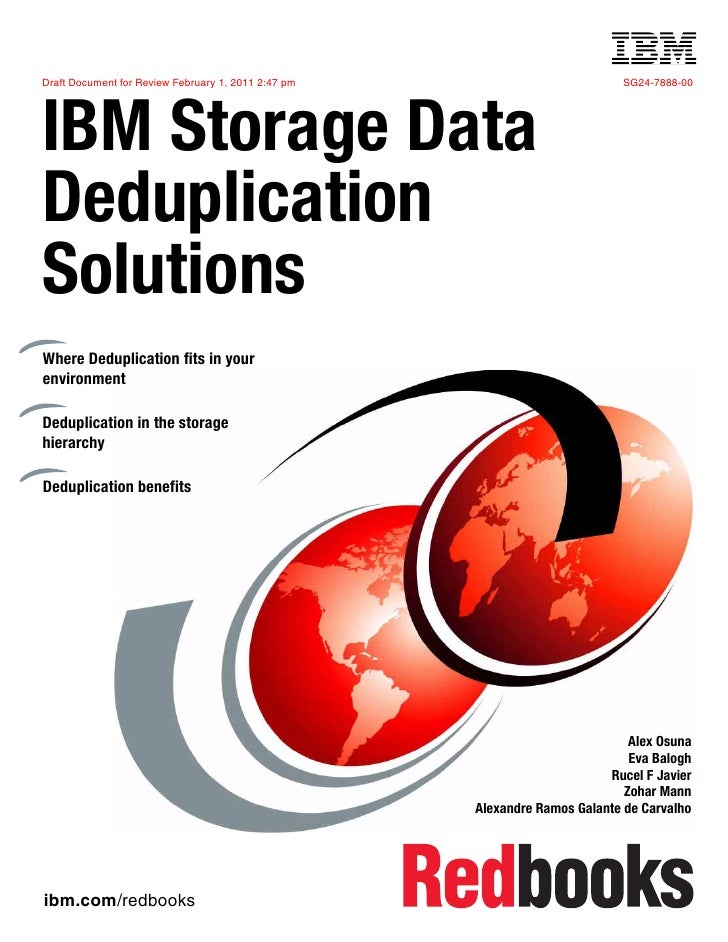 Front coverDraft Document for Review February 1, 2011 2:47 pm                                   SG24-7888-00IBM Storage Da...