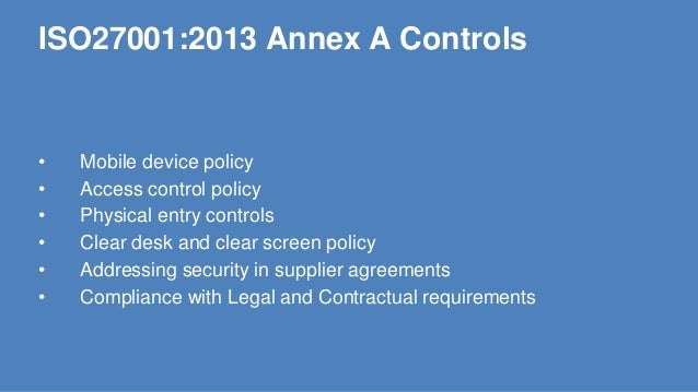 Implementing iso27001 2013 for Physical access control policy template