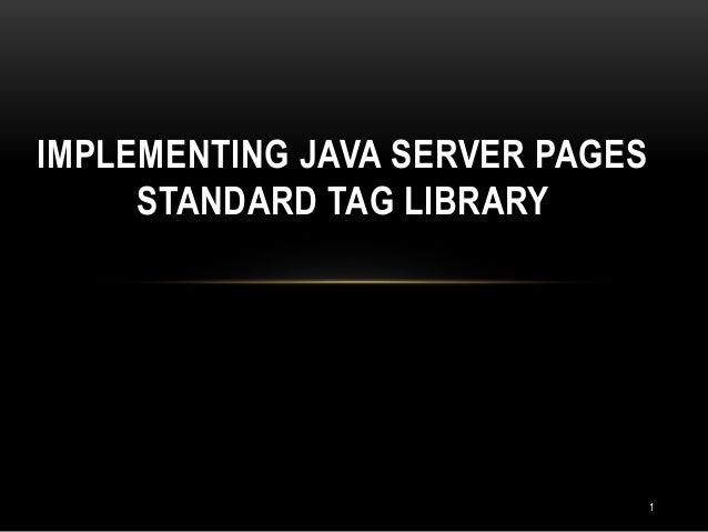 How to write custom tag library in java