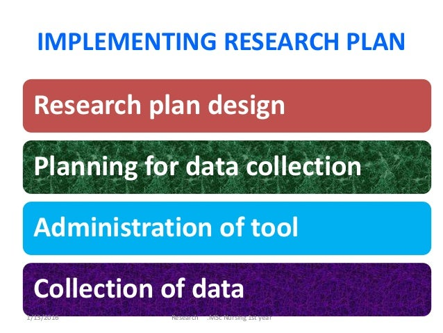Implementing Research Plan