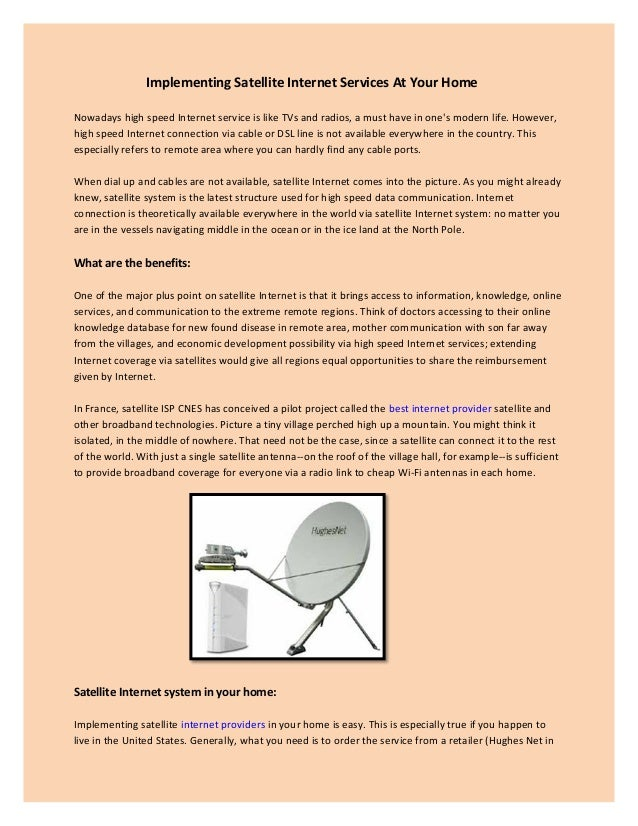 Implementing satellite internet services at your home