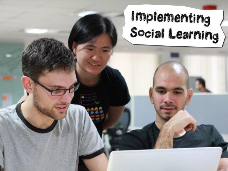ImplementingSocial Learning