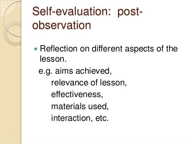 The effects of an aor action observation reflection