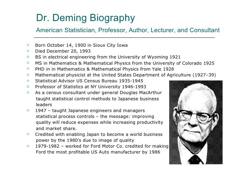 demings philosophy Deming's theory of profound knowledge management and accounting web  points 2 adopt the new philosophy, 3 cease dependence on inspection,.