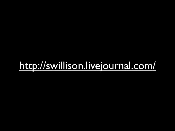 http://swillison.livejournal.com/