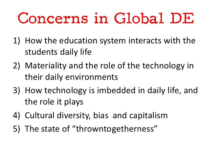 1) How the education system interacts with the   students daily life2) Materiality and the role of the technology in   the...