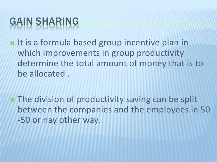 Profit-sharing is a motivation and incentive system where executives receive stock options